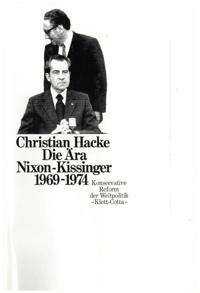 Die Ära Nixon-Kissinger 1969-1974